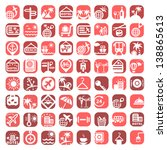 big color travel icons set... | Shutterstock .eps vector #138865613