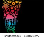 social media background | Shutterstock .eps vector #138893297
