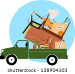 pickup truck loaded with... | Shutterstock .eps vector #138904103