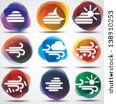 weather icons set. eps10. image ... | Shutterstock .eps vector #138910253