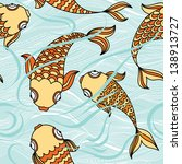 vector seamless pattern with... | Shutterstock .eps vector #138913727