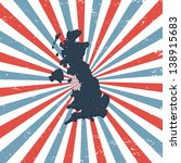 great britain on the map | Shutterstock .eps vector #138915683