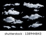 set of isolated clouds. desighn ... | Shutterstock . vector #138944843
