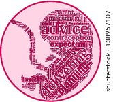 word cloud with abortion terms... | Shutterstock .eps vector #138957107