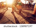marathon running race people... | Shutterstock . vector #138987197