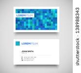 vector blue business card set | Shutterstock .eps vector #138988343
