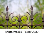 Old Iron Fence On A Natural...