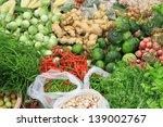 fresh vegetables in market  ... | Shutterstock . vector #139002767