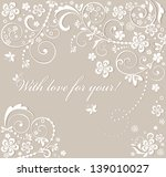 beautiful wedding card | Shutterstock .eps vector #139010027