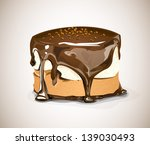 chocolate cake with chocolate... | Shutterstock . vector #139030493