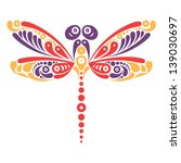 beautiful dragonfly tattoo.... | Shutterstock .eps vector #139030697