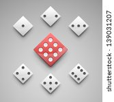 a set of vector dice. | Shutterstock .eps vector #139031207