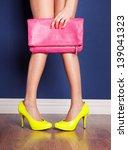girl wearing high heels and... | Shutterstock . vector #139041323