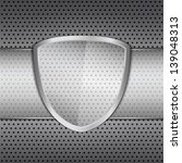 transparent glass shield on... | Shutterstock . vector #139048313