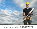construction worker with big... | Shutterstock . vector #139097627