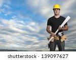 construction worker with big... | Shutterstock . vector #139097627