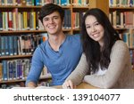 two students sitting in a... | Shutterstock . vector #139104077