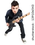 portrait of a bass player in... | Shutterstock . vector #139106543