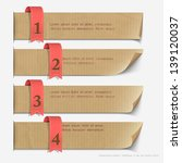 paper numbered banners  design... | Shutterstock .eps vector #139120037
