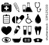 medical icons | Shutterstock .eps vector #139125233