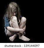 Small photo of Child abuse girl
