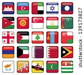 asia flags square buttons | Shutterstock .eps vector #139173827