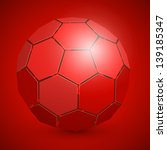 3d abstract soccer ball
