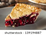 Homemade Organic Berry Pie Wit...