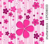 Stock vector vector cute seamless hand drawn style spring flowers background 139208033