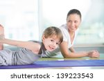 healthy morning stretching  ... | Shutterstock . vector #139223543