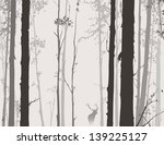 Silhouette Of The Forest With...