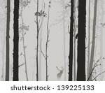 silhouette of the forest with... | Shutterstock .eps vector #139225133