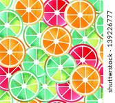 mix of citruses illustration... | Shutterstock . vector #139226777