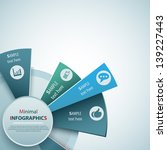 abstract 3d paper infographics | Shutterstock .eps vector #139227443