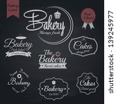 set of retro bakery labels ... | Shutterstock .eps vector #139245977