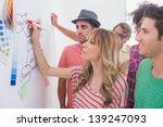 creative team watching coworker ... | Shutterstock . vector #139247093