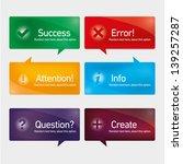 action button set | Shutterstock .eps vector #139257287