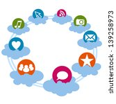 social icons on the cloud | Shutterstock . vector #139258973