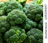 Group Of Fresh Broccoli Close...
