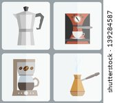 Coffee Makers Icon Set In...