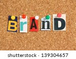 Постер, плакат: The word Brand in