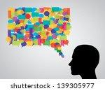 chat  speech bubble   Shutterstock .eps vector #139305977