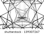 power post structure isolated... | Shutterstock . vector #139307267
