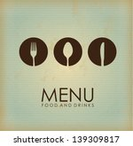 cutlery icon over vintage... | Shutterstock .eps vector #139309817