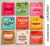 set of retro bakery labels ...   Shutterstock .eps vector #139319867