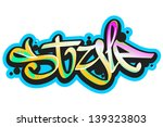 graffiti vector art urban... | Shutterstock .eps vector #139323803