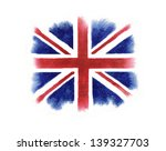 Watercolor British Flag