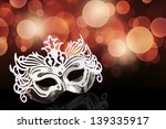 carnival mask on a black... | Shutterstock . vector #139335917