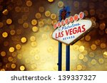 welcome to las vegas neon sign... | Shutterstock . vector #139337327