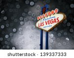 welcome to las vegas neon sign... | Shutterstock . vector #139337333